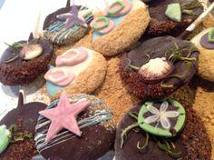 Beach Themed Cheesecake Pops. #imagination #bakeshopoakland http://www.bakeshopoakland.com/
