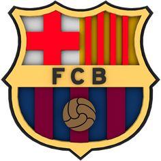 FC Barcelona Universal 3D Fu/ßball Wappen Sticker
