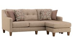 Coconut Maple Sofa with Chaise
