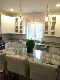 fantasy brown quartzite kitchen island gray remodel bathroom