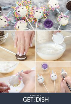 Oreo Unicorn Cookie Pops | POPSUGAR Food