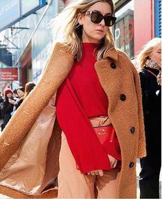 GANNI Streetstyle | Camille Charriere | Fenn Wrap Coat Camel
