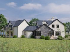 East Of Garvaghy Church Road, Banbridge - PropertyPal Hill Country Homes, Country House Plans, Barn Kitchen, Dream Mansion, Stone Cladding, Luxury Homes Dream Houses, Residential Architecture, Log Homes, Future House