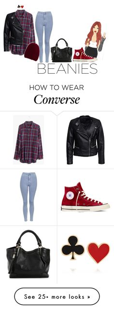 """Beanie this Fall"" by peperutka-eva on Polyvore featuring Madewell, Topshop, Converse, Sisters Point, Inverni and Alison Lou"