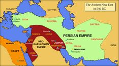 Mesopotamia-The ancient Near East in 540 BC, prior to the Persian invasion of Babylonia Persian Empire Map, Songhai Empire, Cyrus The Great, Bible Mapping, Black History Books, Religion, Achaemenid, 12 Tribes Of Israel, Ancient Near East