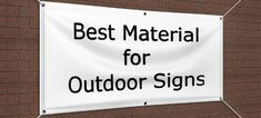 Are you using the best material for outdoor signs? Learn about different outdoor signage materials & contact us today for a quote on your signage needs. Outdoor Vinyl Banners, Outdoor Signage, Aluminum Uses, Aluminum Signs, Political Signs, Wayfinding Signs, Real Estate Signs, Making Signs On Wood, Plastic Signs