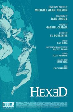 Preview: Hexed #5,   Hexed #5 Story: Michael Alan Nelson Art: Dan Mora Cover: Dan Mora Publisher: BOOM! Studios Publication Date: December 10th, 2014 Price: $3.9...,  #All-Comic #All-ComicPreviews #Boom!Studios #Comics #DanMora #Hexed #MichaelAlanNelson #Previews