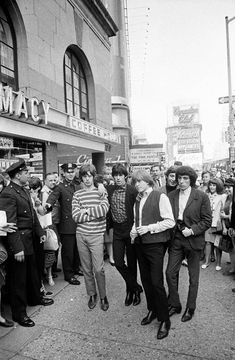 The Rolling Stones in New York on first U.S. tour, 1964.