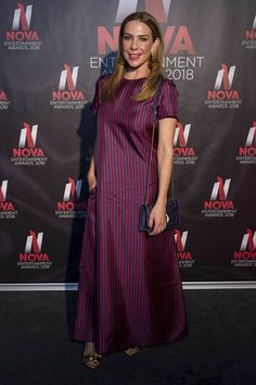 Kate Ritchie looks effortlessly stylish at Nova Awards Home And Away, Mail Online, Daily Mail, Nova, Awards, Short Sleeve Dresses, Stylish, Fashion, Moda