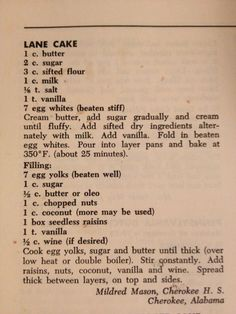 alabama lane cake - Yahoo Image Search Results