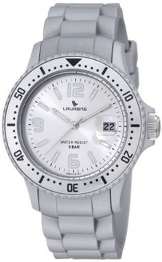 Laurens Unisex GW41J912Y Rotating Bezel Silver Tone Rubber Watch Laurens. $79.99. Unidirectional rotating bezel with minute track. Mineral crystal with magnifying lens. Soft silver tone rubber strap. Silver dial with date window. Second-hand feature