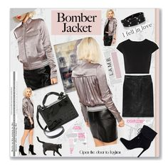 """L.A.M.B. bomber jacket"" by pumsiks ❤ liked on Polyvore featuring mode, L.A.M.B., Diane Von Furstenberg, Chloe + Isabel, Alice + Olivia, GUESS, women's clothing, women, female et woman"