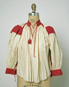 Hungarian Embroidery Blouse Date: 1815 Culture: Hungarian - Chain Stitch Embroidery, Learn Embroidery, Embroidery Patterns, Hand Embroidery, Stitch Head, Braided Line, Hungarian Embroidery, Textiles, Costume Institute
