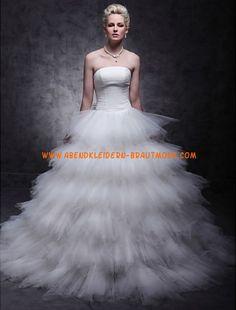 2013 Luxuriöse Brautmode aus Satin und Softnetz Ballkleid