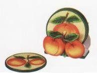 Coaster Holder, Coaster Set, Peach Kitchen, Kitchen Themes, Peaches, Tableware, Georgia, Amazon, Decor