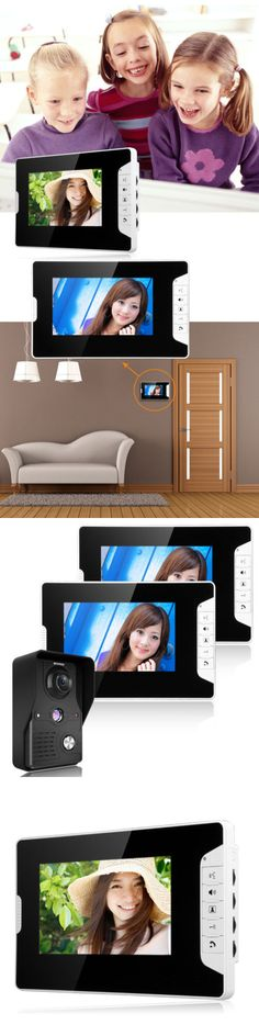 Intercoms and Access Controls: 7 Lcd Wired Video Door Ir Camera Phone Doorbell Intercom System Remote Control -> BUY IT NOW ONLY: $94.99 on eBay!