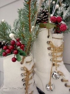 decorating with sled and ice skates - Google Search
