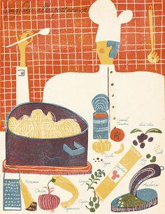 illustrated recipes on Behance by Barbara Dziadosz
