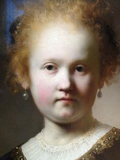Portrait of a Girl Wearing a Gold Trimmed Cloak, 1632. Rembrandt at the Getty