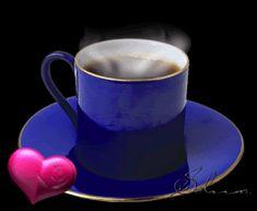 Animated Gif by Hfhfg Gdrgfd Coffee Gif, Coffee Images, Coffee Love, Good Morning Angel, School Study Tips, Flower Aesthetic, Animated Gif, Mugs, Tableware