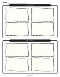 Narrative Writing Graphic Organizer (story elements
