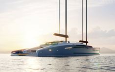 Feadship Envisions A Spectacular Eco-Explorer Concept Explorer Yacht, Yacht Broker, Air Conditioning System, Beach Club, Weather Conditions, Underwater, Swimming Pools, Sailing, Boat