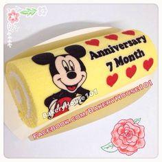 Anniversary Roll Cake, Paint Roll Cake^_^ รับทำ Roll Cake ตาม Order ค่ะ ที่ ร้านอาหาร Bakeryhouse 101 Sukhumvit101/1 on wongnai.com