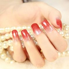 Christmas red nails