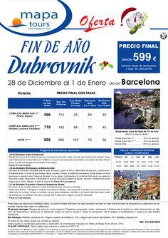 Oferta Fin de Año Dubrovnik salida Barcelona **Precio Final desde 599** - http://zocotours.com/oferta-fin-de-ano-dubrovnik-salida-barcelona-precio-final-desde-599-3/