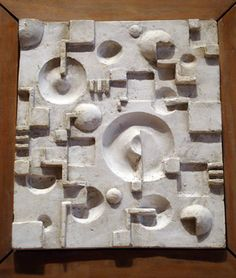 """Relief study for preliminary course taught by Johannes Itten,"" by Rudolf Lutz, plaster with wood frame, 9 by 7 inches, Bauhaus-Archiv Berlin Plaster Sculpture, Abstract Sculpture, Wall Sculptures, Sculpture Art, Bauhaus Art, Ceramic Wall Art, Art Moderne, Museum Of Modern Art, Public Art"