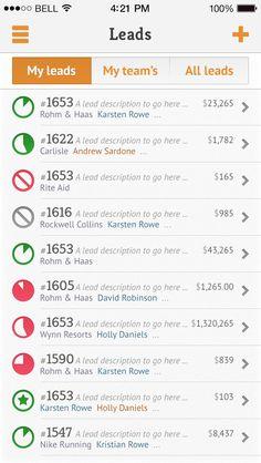 Nutshell iOS 7 Index list design.