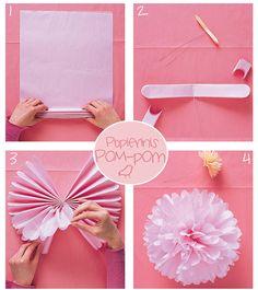 Paper pom pom tutorial