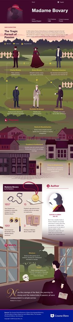 This @CourseHero infographic on Madame Bovary is both visually stunning and informative!