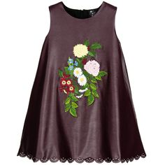 Love Made Love Purple Synthetic Leather Hand Embroidered Dress at…