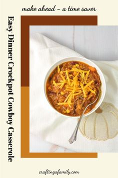 Crockpot Cowboy Casserole, super easy dinner you can start in the morning and have ready at the end of a busy day. Kid friendly loaded with veggies. Delicious cheesy easy family meal Fall Dinner Recipes, Dinner Recipes Easy Quick, Easy Meals, Top Recipes, Easy Recipes, Crockpot Cowboy Casserole, Super Easy Dinner, Healthy Family Meals, Stuffed Sweet Peppers