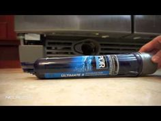 How To Replace Kenmore Elite Refrigerator Water Filter (In Grille) 9030 - YouTube