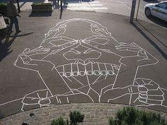 Masking Tape Street Art by Buff Diss Photo