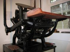 My antique printing press.