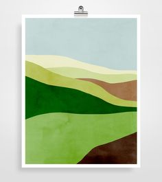 Abstract Landscape Art Print Mid Century Modern Art