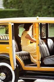 Afbeeldingsresultaat voor twenties style romantic yellow car