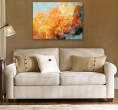 Abstract expressionism canvas print 24x32 by FinnellFineArt, $200.00