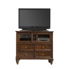 A America Cherry Solid Wood Media Chest at Big Sandy Superstore