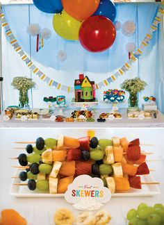Pixars UP Themed Birthday & Gender Reveal Party