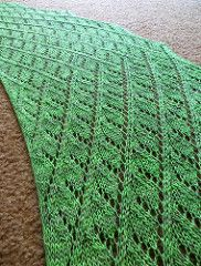 The third in my Gardens-inspired shawl collection. Orchard shawl is worked sideways in a lacy pattern with built-in i-cord edging that gently shapes the curved crescent-shaped shawl. Because of the structure of this shawl, it's fully adjustable for a longer or deeper shawl and for any yardage. The pattern includes instructions on how to make these adjustments. The lacy pattern knits up quickly and shows off a variety of yarns.