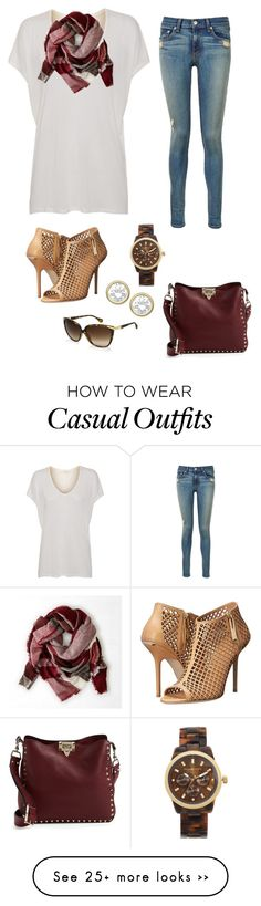 """Plaid scarf - Casual"" by brittjade on Polyvore featuring rag & bone, D&G, Valentino, Michael Kors, Burberry, American Vintage and American Eagle Outfitters"