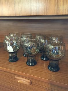 Vintage drink glasses. Available at Mid Mod Collective. Email midmodcollective@gmail.com for more info.
