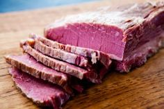 Here's how to easily cure your own corned beef for St. It's made with beef brisket, pickling spices, and salt, and needs to cure for 5 days. The result is a corned beef that's more flavorful and unique than you can buy in the store. Corned Beef Brisket, Simply Recipes, Great Recipes, Favorite Recipes, Chorizo, Homemade Corned Beef, Beef Recipes, Cooking Recipes, Jerky Recipes