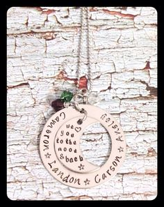 Personalized Stamped Eternity Circle by HammeredWorksbyLorie