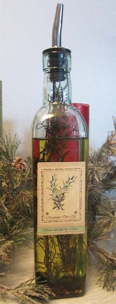Rosemary Olive Oil - an easy and delicious gift to make for family & friends and make one for yourself too!