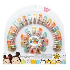 Tsum Tsum Disney Deluxe Decorative Tape Set Pack) Playset Holographic tape Mega 30 pack Tsum Tsum Decorative tape For ages 6 and up Tsum Tsum Party, Disney Tsum Tsum, Tapas, Tsum Tsum Characters, Glitter Magnets, Design Tape, Creative Bookmarks, Cool School Supplies, Tsumtsum